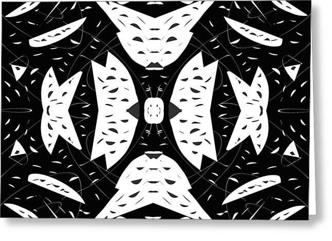 Patterned Abstract Drawings Greeting Cards - Cutouts Greeting Card by Edward Fielding