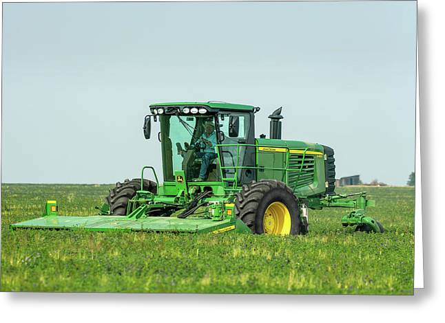 Cutting Alfalfa Greeting Card by Todd Klassy