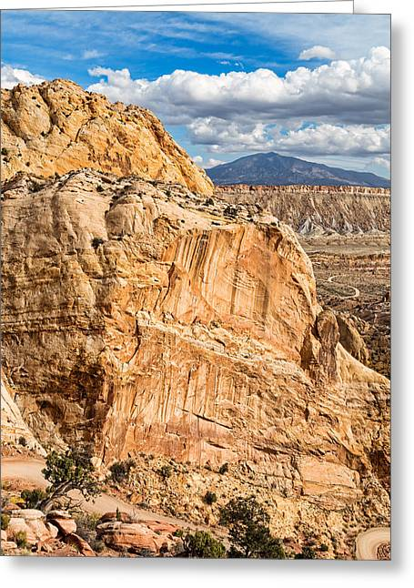 Southern Utah Greeting Cards - Cutting Down Burr Trail Greeting Card by Kathleen Bishop