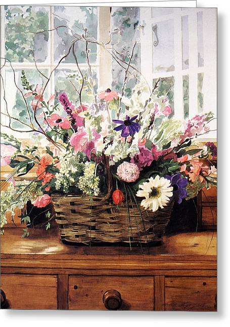 Cutting Garden Arrangement Greeting Card by David Lloyd Glover