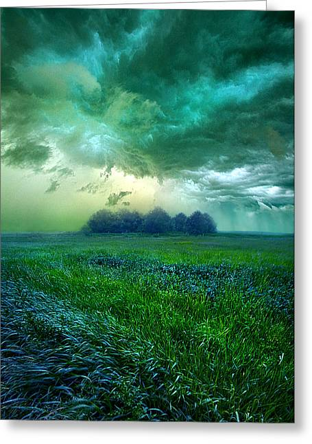 Storm Light Greeting Cards - Cutting Loose Greeting Card by Phil Koch