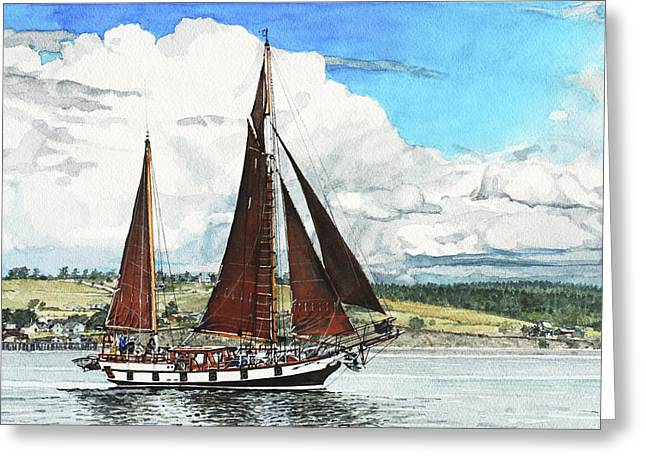 Penn Cove Greeting Cards - Cutty Sark Greeting Card by Perry Woodfin