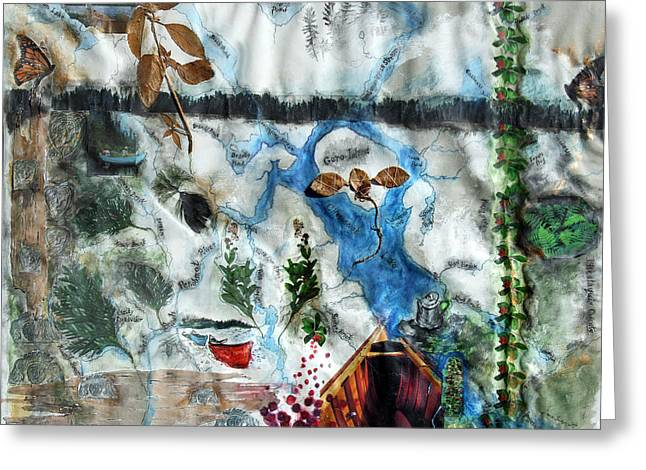 Cuxabexis Exploration Greeting Card by Diana Ludwig