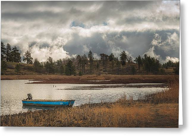 Row Boat Photographs Greeting Cards - Cuyamaca  Greeting Card by Joseph Smith