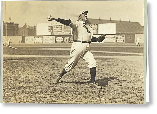 Cy Young Photographs Greeting Cards - Cy Young July 23rd 1908 Greeting Card by Paul and Janice Russell