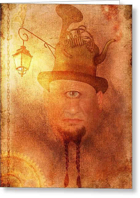 Cyclops Greeting Card by Arvydas Butautas