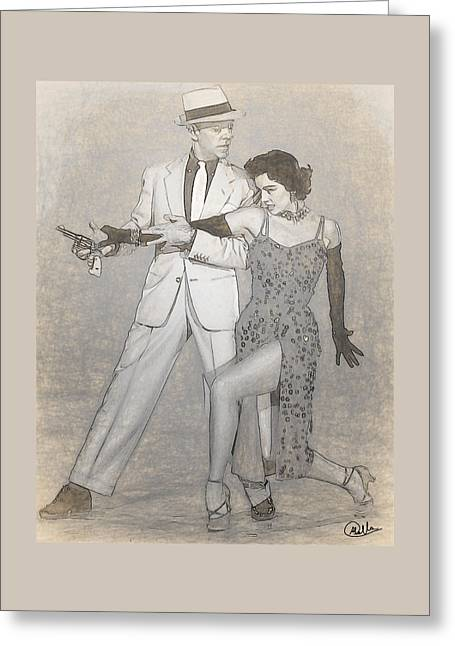 Cyd Charisse - Fred Astaire Drawn Greeting Card by Quim Abella
