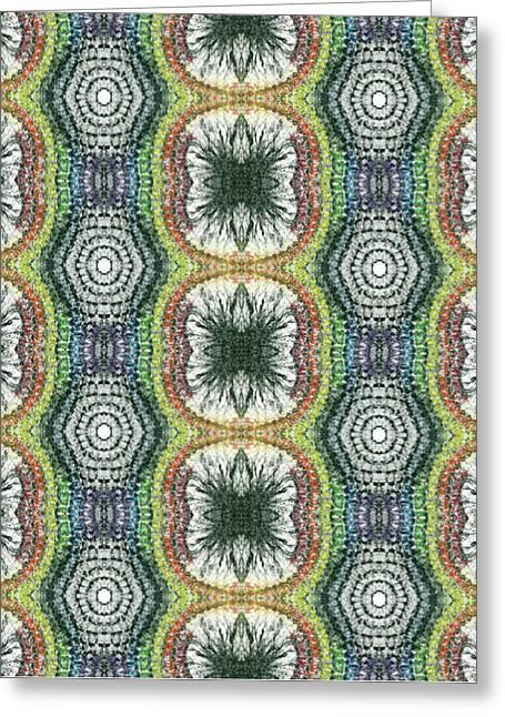Cymatics Geometry #1545 Greeting Card by Rainbow Artist Orlando L aka Kevin Orlando Lau
