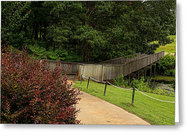 Cypress Bend Bridge 1 Greeting Card by Judy Vincent