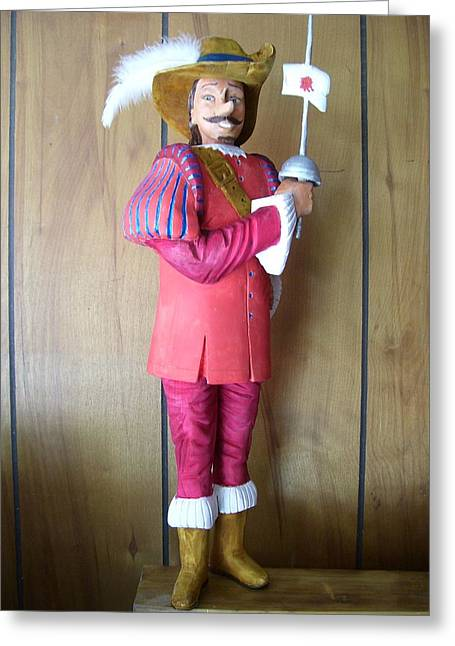 Decor Sculptures Greeting Cards - Cyrano Debergeac Greeting Card by Michael Pasko