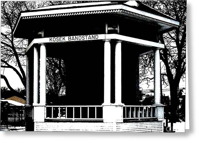 Bandstand Greeting Cards - Czech Village Bandstand Greeting Card by Marsha Heiken