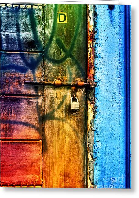 Man Made Abstract Greeting Cards - D is for Door Greeting Card by Tara Turner