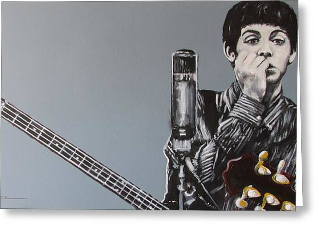 Paul Mccartney Drawings Greeting Cards - D-Note Greeting Card by Eric Dee