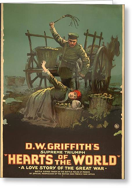 D.w Greeting Cards - D W Griffiths Hearts of the World 1918 Greeting Card by Mountain Dreams