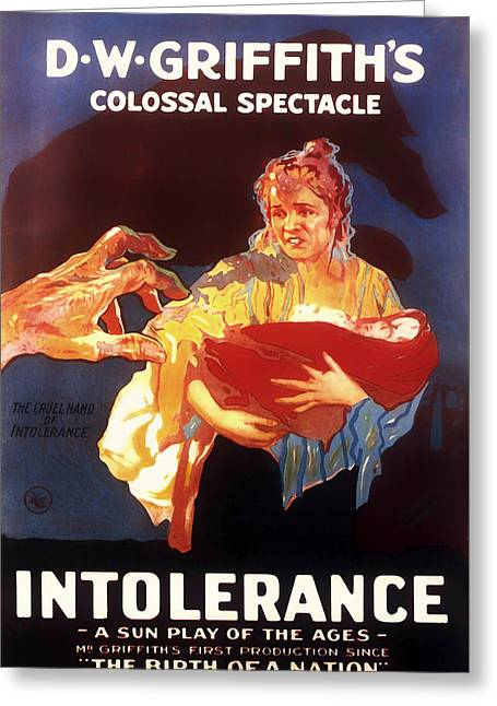 Intolerance Mixed Media Greeting Cards - D W Griffiths Intolerance 1916 Greeting Card by Mountain Dreams