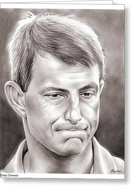 Dabo Swinney Greeting Card by Greg Joens