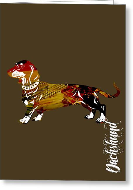 Pet Portraits Greeting Cards - Dachshund Collection Greeting Card by Marvin Blaine