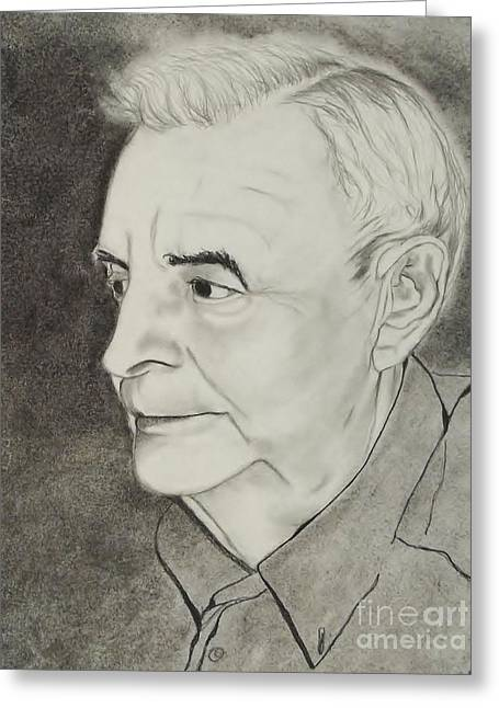 Senior Citizen Drawings Greeting Cards - Dad Greeting Card by Lise PICHE