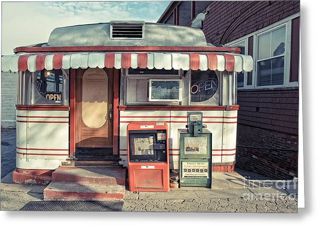 Daddypops Tumble Inn Diner Claremont New Hampshire Greeting Card by Edward Fielding