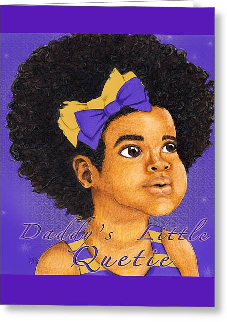 Daddy's Little Girl - Omega Psi Phi Greeting Card by BFly Designs