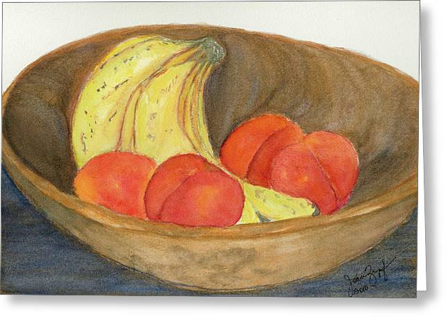 Wooden Bowls Paintings Greeting Cards - Daddys Wooden Bowl Greeting Card by Joan Zepf