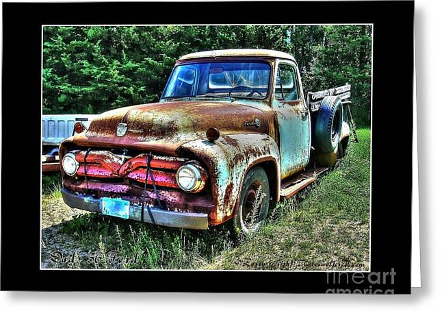 1956 Ford Truck Greeting Cards - Dads 1956 Ford Truck Greeting Card by Larry Wright