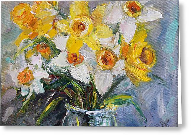 Daffodil In Spring  Greeting Card by Jennifer Beaudet