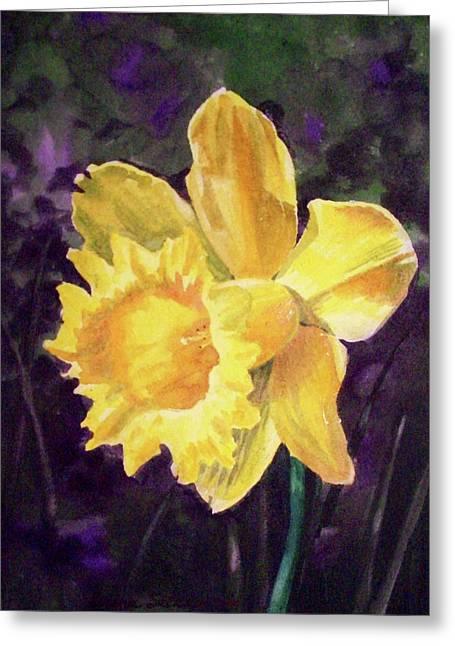 Daffodil Greeting Card by Irina Sztukowski