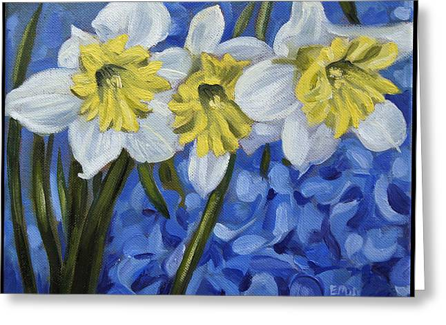 Edward Williams Greeting Cards - Daffodils Greeting Card by Edward Williams
