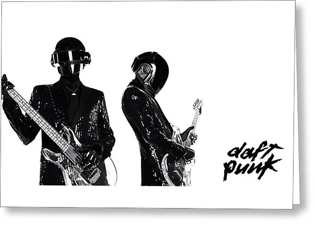 Daft Punk - 400 Greeting Card by Jovemini ART