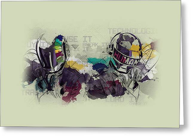 Daft Punk Painting - 445 Greeting Card by Jovemini ART