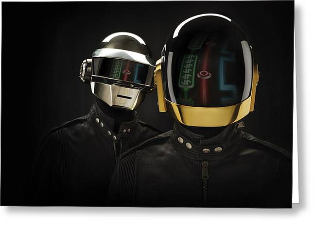 Daft Punk - 639 Greeting Card by Jovemini ART