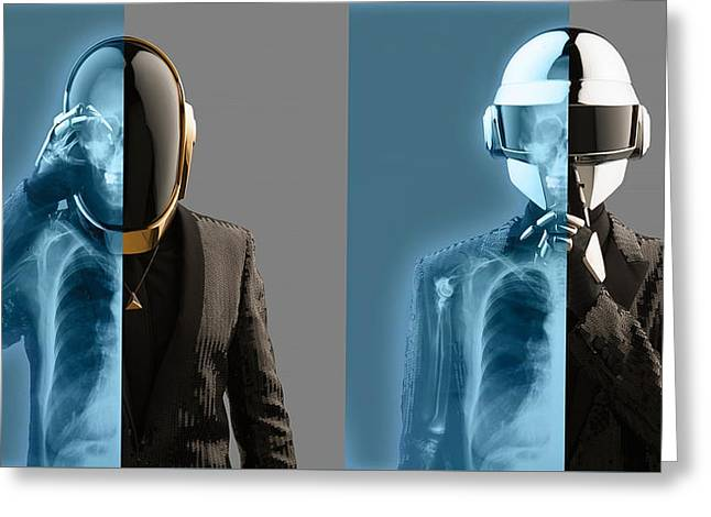 Daft Punk - 824 Greeting Card by Jovemini ART