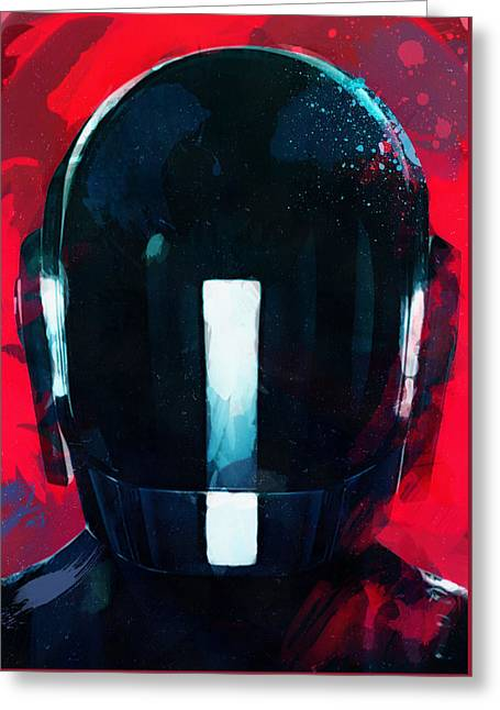 Daft Punk II Greeting Card by Mortimer Twang