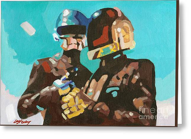 Daft Punk Greeting Card by Lorna Marie Stephens