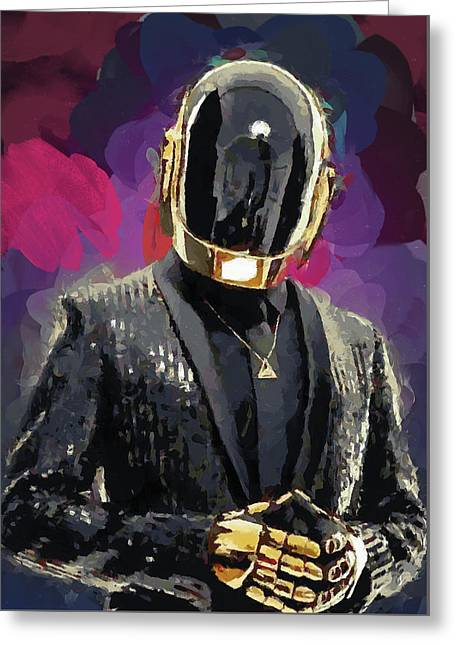 Daft Punk Greeting Card by Mortimer Twang