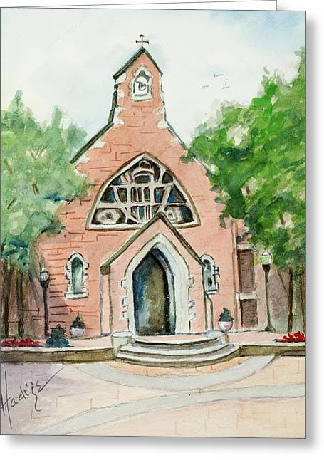 Dahlgren Chapel Greeting Card by Mary DuCharme