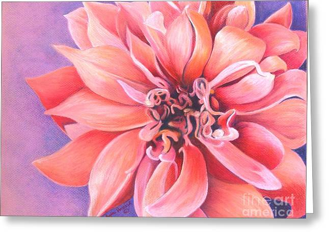 Recently Sold -  - Bloosom Greeting Cards - Dahlia 2 Greeting Card by Phyllis Howard