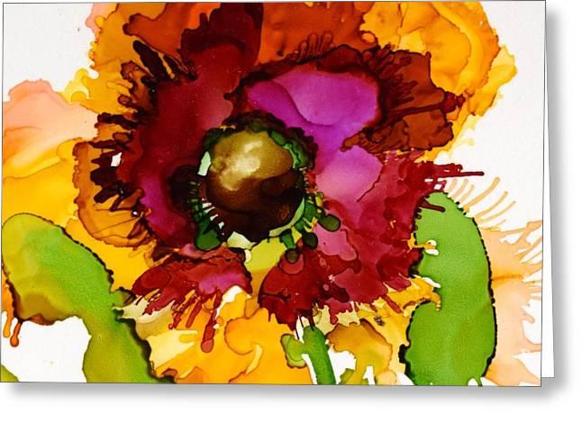 Dahlia Daze Greeting Card by Marla Beyer
