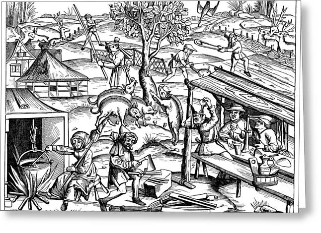 Daily Life: France, 1517 Greeting Card by Granger