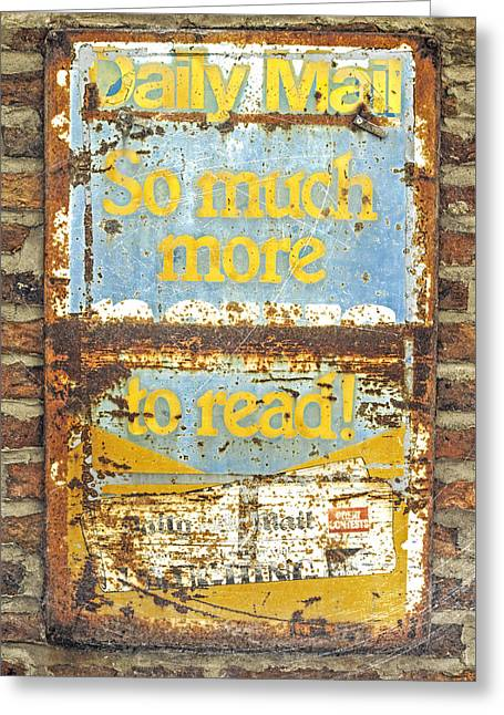 Grocery Store Greeting Cards - Daily Mail....vintage sign Greeting Card by Hal Halli