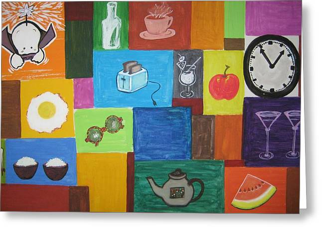 Toaster Paintings Greeting Cards - Daily Routine Greeting Card by Imelda Tio