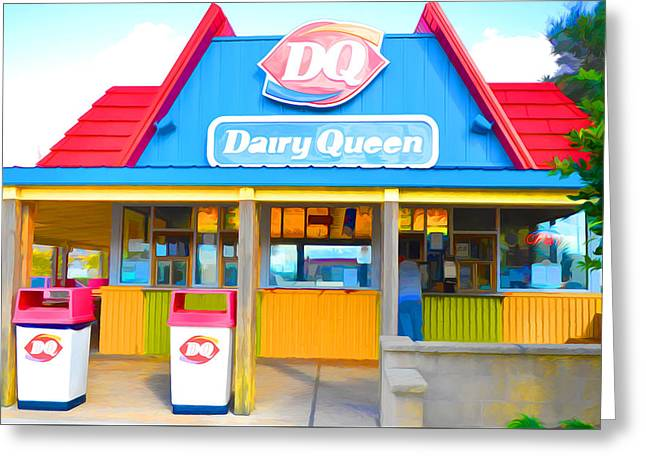 Dairy Queen Greeting Card by Lanjee Chee