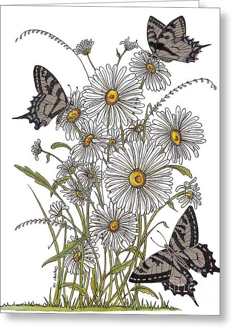 Shower Curtain Greeting Cards - Daisy At Your Feet Greeting Card by Stanza Widen