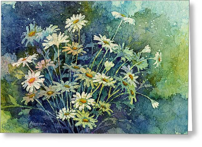 Watercolor! Art Greeting Cards - Daisy Bouquet Greeting Card by Hailey E Herrera