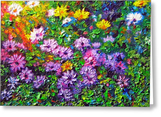 Cape Town Paintings Greeting Cards - Daisy Delicious Greeting Card by Michael Durst