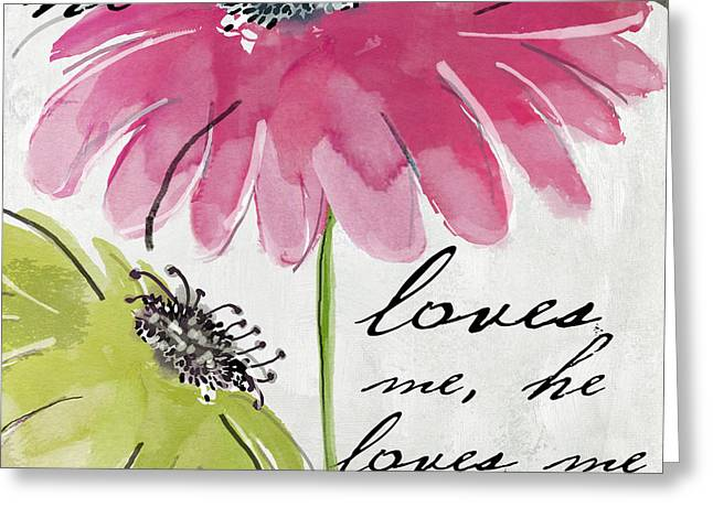 Picking Greeting Cards - Daisy Morning II Greeting Card by Mindy Sommers