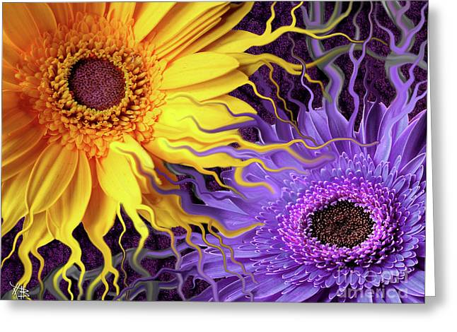 Artwork Flowers Greeting Cards - Daisy Yin Daisy Yang Greeting Card by Christopher Beikmann
