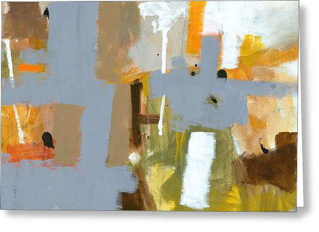 Abstract Expressionist Greeting Cards - Dakota Street 6 Greeting Card by Douglas Simonson