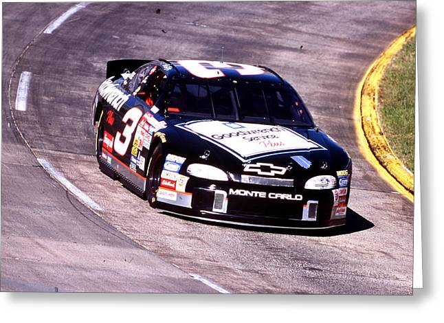Dale Earnhardt 1998 Martinsville Greeting Card by David Bryant